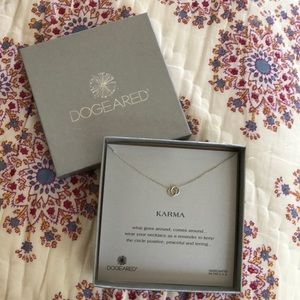 Dogeared Karma silver necklace